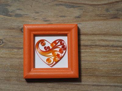 画像1: ハートフレームオレンジ (1)